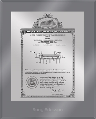 "Patent Plaques Custom Wall Hanging Ultramodern Vintage Patent Plaque - 10.5"" x 13"" Silver and Translucent Grey Acrylic."