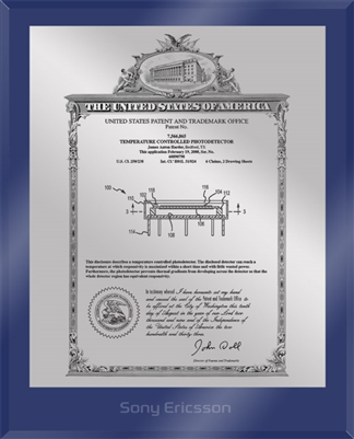 "Patent Plaques Custom Wall Hanging Ultramodern Vintage Patent Plaque - 8"" x 10"" Silver and Blue Acrylic."