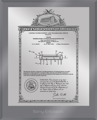 "Patent Plaques Custom Wall Hanging Ultramodern Vintage Patent Plaque - 8"" x 10"" Silver and Translucent Grey Acrylic."