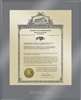 "Patent Plaques Custom Wall Hanging Ultramodern Vintage Trademark Plaque - 10.5"" x 13"" Gold and Translucent Grey Acrylic."