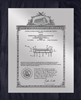 "Patent Plaques Custom Wall Hanging Vintage Patent Plaque - 10.5"" x 13"" Silver and Black."
