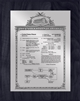 "Patent Plaques Custom Wall Hanging Vintage Patent Plaque - 8"" x 10"" Silver and Black."