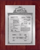 "Patent Plaques Custom Wall Hanging Vintage Patent Plaque - 8"" x 10"" Silver and Cherry."