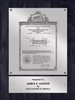 "Patent Plaques Custom Wall Hanging Vintage Patent Plaque - 9"" x 12"" Silver and Black."