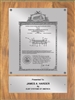 "Patent Plaques Custom Wall Hanging Vintage Patent Plaque - 9"" x 12"" Silver and Oak."