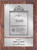 "Patent Plaques Custom Wall Hanging Vintage Patent Plaque - 9"" x 12"" Silver and Walnut."