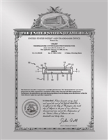 "Patent Plaques Custom Wall Hanging Vintage Metal Patent Presentation Plate - 8.5"" x 11"" Silver."