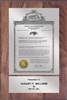 "Patent Plaques Custom Wall Hanging Vintage Trademark Plaque - 8"" x 12"" Silver and Walnut."
