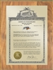 "Patent Plaques Custom Wall Hanging Vintage Trademark Plaque - 9"" x 12"" Gold and Oak."