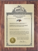 "Patent Plaques Custom Wall Hanging Vintage Trademark Plaque - 9"" x 12"" Gold and Walnut."