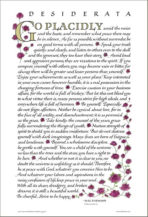 Posters If /& Desiderata Poems