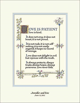 love is patient personalized