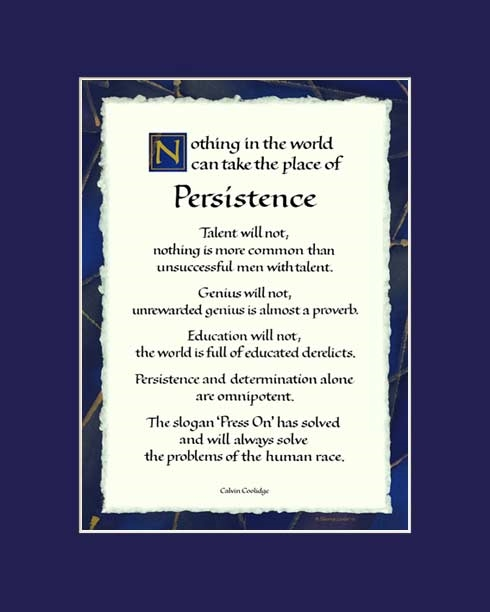 Calvin Coolidge Quotes Persistence: Persistence By Calvin Coolidge