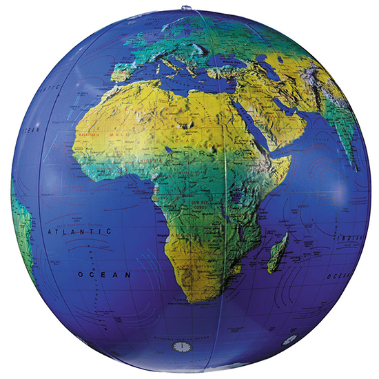 Inflatable Topographical Globe By Replogle