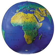 Inflatable Topographical Globe 16 Inch By Replogle