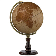 Leather Expedition Globe By Replogle