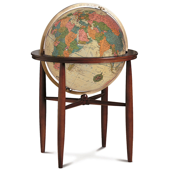 Finley Globe Antique Oceans By Replogle