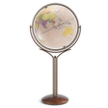 "20"" Magellano Antique Ocean Globe By Zoffoli"