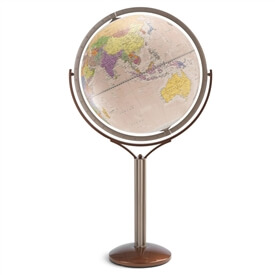 "24"" Magellano Antique Ocean Globe By Zoffoli"