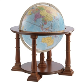 "20"" Mercatore Blue Ocean Globe By Zoffoli"