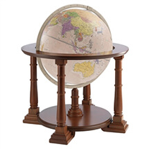"24"" Mercatore Antique Ocean Globe By Zoffoli"