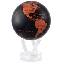"4.5"" Copper & Black Earth Revolving Globe"