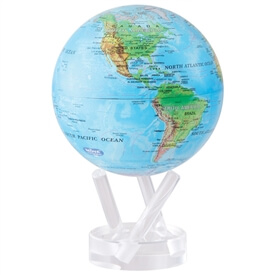 "6"" Blue Ocean Relief Map Revolving Globe"
