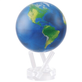 "6"" Satellite View Natural Earth Revolving Globe"
