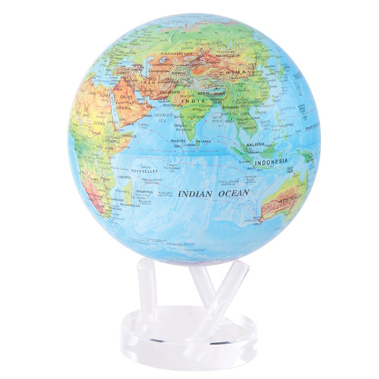 "8.5"" Blue Ocean Relief Map Revolving Globe"