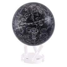 "8.5"" Silver Constellation in Blue Revolving Globe"