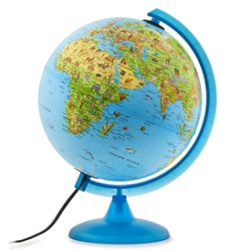 Safari Explorer Blue Animals Globe by Waypoint Geographic