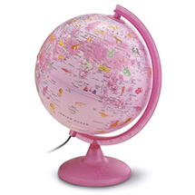 Safari Explorer Pink Animals Globe by Waypoint Geographic