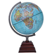 "Pacific II Illuminated Globe by Waypoint Geographic | 12"" Desktop Globe"