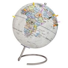 MagneGlobe 9-in Classic Antique Ocean Magnetic Globe by Waypoint Geographic
