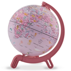 Giacomino Kids Pink Animals Globe