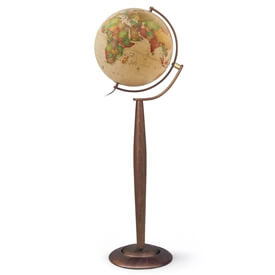 Lyon 15-in Floor Globe Classic Antique Ocean by Waypoint Geographic