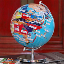 "USA 9"" Illustrated Globe by Globee 
