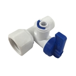 AquaticLife Reverse Osmosis Under Sink Water Line Adapter w/ Valve