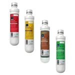 AquaticLife Twist-In Compact Replacement Sediment, Carbon, DI Cartridge & RO Membrane Package