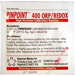 American Marine 400 ORP/REDOX Calibration Solution, Single Use Packet