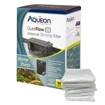 Aqueon QuietFlow 20 Internal Shrimp Filter w/ 6 Pack of Replacement Filter Cartridges Package