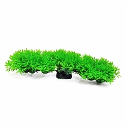 "AquaTop Plastic Freshwater Aquarium ""Bendable Fuzzy"" Green Foreground Plant 8"" W x 2"" H"