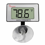 AquaTop Submersible Thermometer w/ Digital Display & Suction Cup Mount (DTG-15)