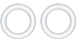 AquaTop CF500 Canister Filter Replacement O-Ring Set (2) for Quick Disconnect Valve