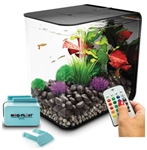 BiOrb Flow 15 Liter Black Aquarium with MCR Lighting & Mag-Float Algae Cleaner Package