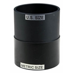 "75mm Metric Spg X 2-1/2"" Slip Standard Imperial PVC Adapter"