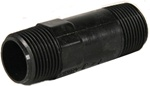"Nylon Nipple 1"" MPT x 1"" MPT x 3"" length, black"