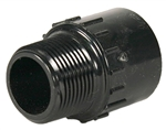 "Schedule 40 PVC Male Adapter 1-1/2"" Slip x 1-1/2"" Thread"