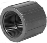 "PVC Coupling 1-1/2"" FPT x 1-1/2"" FPT Grey"