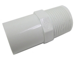 "Schedule 40 PVC Male Adapter 3/4"" SPG x 3/4"" MPT"
